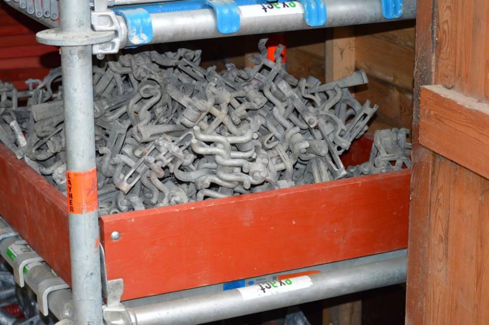 Colliers à frapper pour échafaudage Koppelingen met spie voor steiger