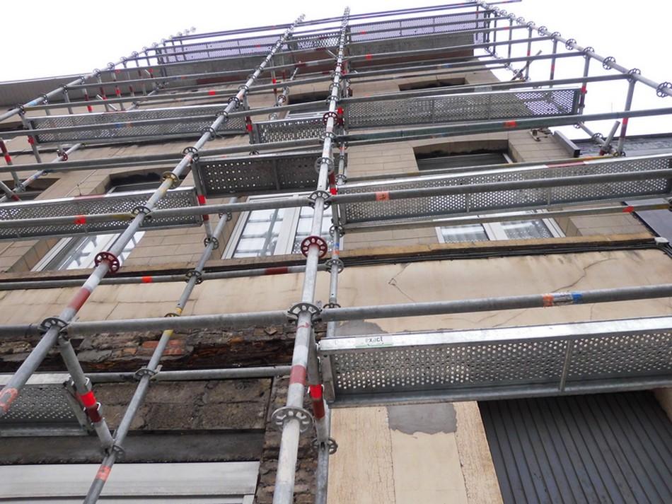 Echafaudage 98m² multidirectionnel pas cher à vendre chez LocAgnès Steiger allround te koop lage prijs bij LocAgnès
